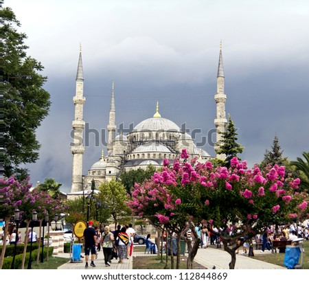 Blue Mosque, (Sultanahmet Camii), Istanbul, Turkey - stock photo
