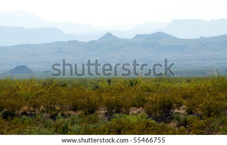 blue mountain layers - stock photo