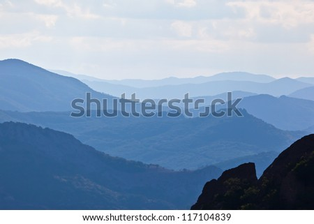Blue Mountains and Hills Landscape