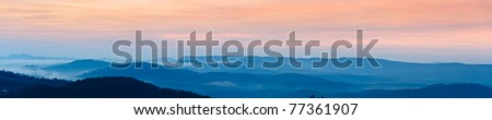 Blue Mountains Panorama - stock photo