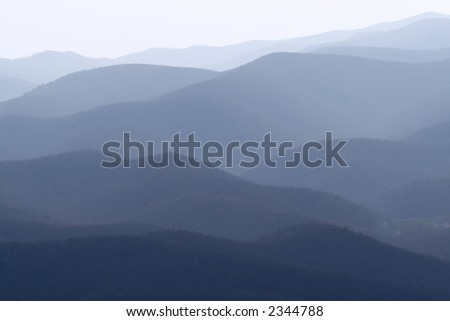 blue mountains virginia - stock photo