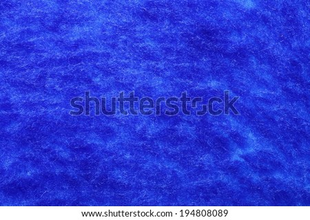 Blue natural plush terry cloth , macro background closeup