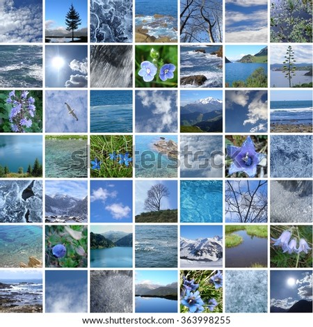 BLUE NATURE 49 PICTURES - stock photo
