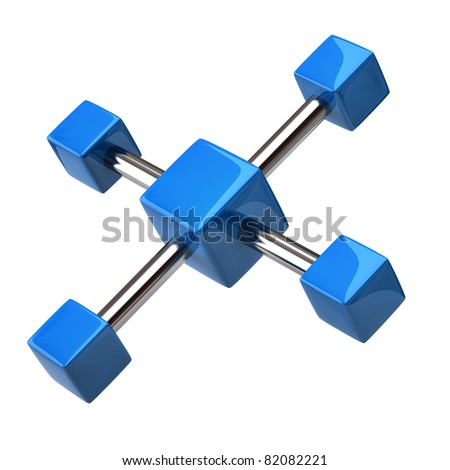 Blue network and communication icon - stock photo