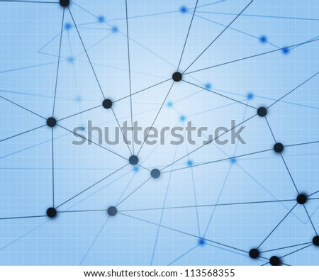 Blue Network Background - stock photo