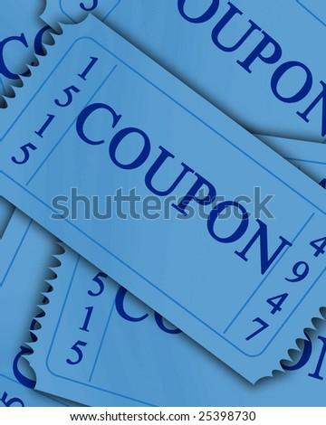 blue new coupon collection with some shaded areas