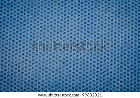 blue nonwoven fabric cloth texture background - stock photo