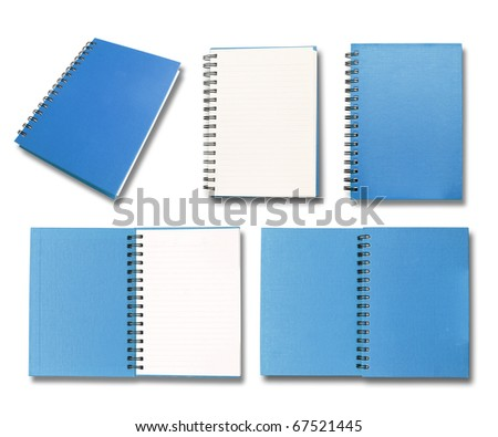 Blue note book collection - stock photo