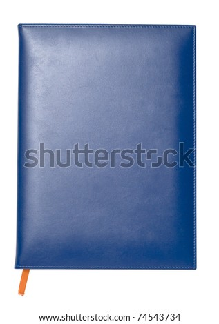 Blue notebook - stock photo
