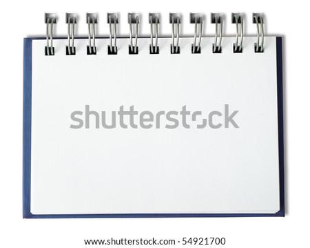 Blue Notebook horizontal single page - stock photo