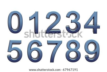 blue numbers - stock photo
