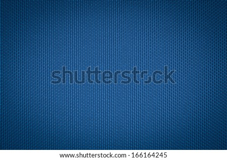 blue nylon fabric  texture background. - stock photo