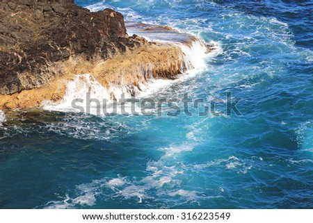 Blue ocean - stock photo