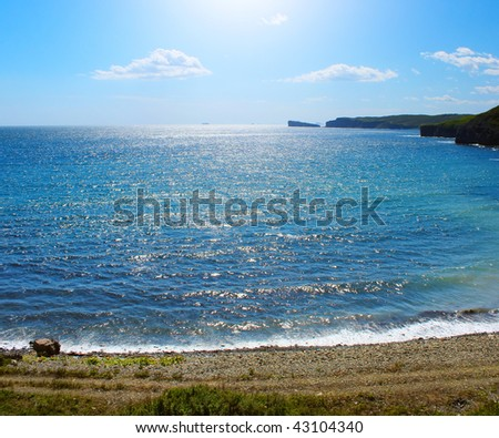 Blue ocean and sunlight - stock photo