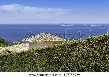 Blue ocean in Rio De Janeiro, Brazil - stock photo