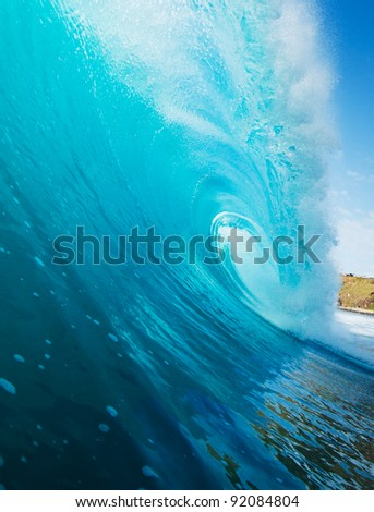 Blue Ocean Wave - stock photo