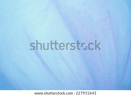Blue oil canvas background, closeup of original oil painting.  - stock photo