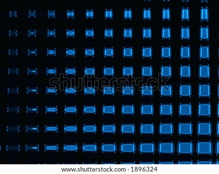 Blue on Black - Illustration