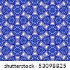 Blue on white seamless arabesque (jpg); vector version also available - stock photo