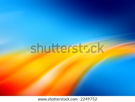 blue orange abstract composition - stock photo