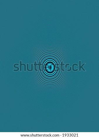 blue orbit - stock photo