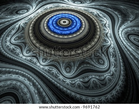 Blue Oriental Rug - stock photo