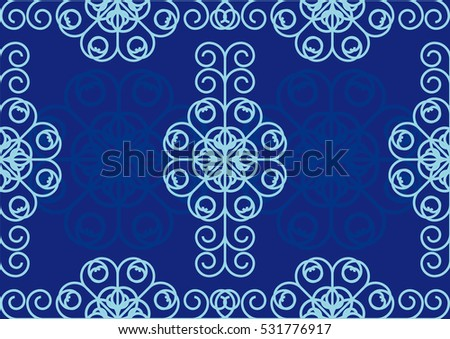blue ornament background blue patterned background stock