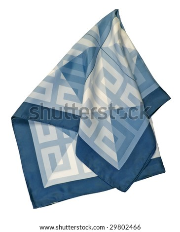 blue ornament scarf - stock photo