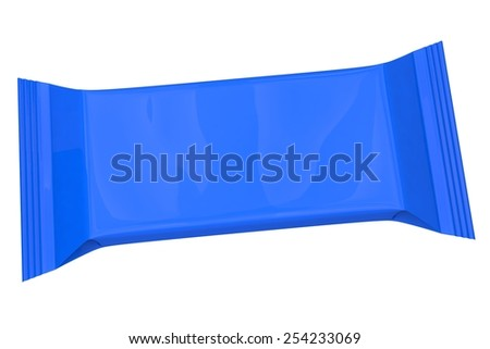 blue packaging - stock photo