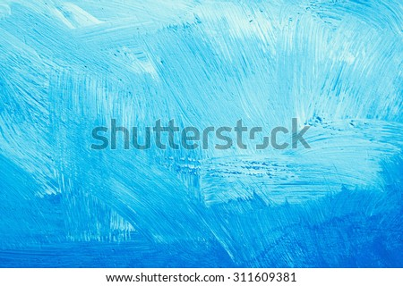 Blue paint on a stone surface, as a background - stock photo