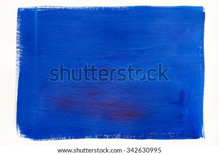 blue painted artistic canvas background texture - stock photo