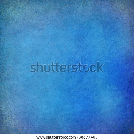 blue painted wall textured background - stock photo