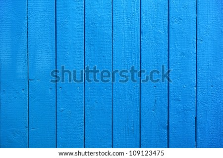 Blue Painted Wood Planks as Background or Texture, Natural Pattern - stock photo