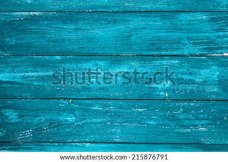 Blue painted wood texture - stock photo
