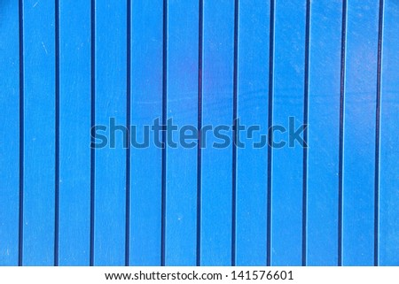 Blue painted wooden  background - stock photo