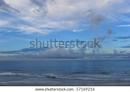 Blue panorama - stock photo