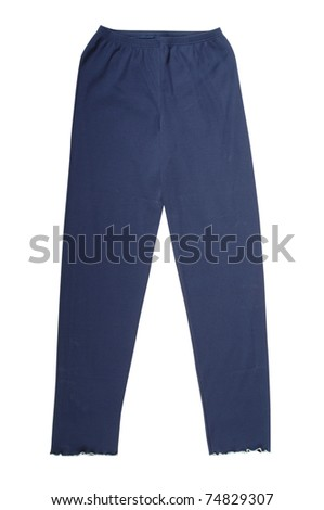 blue pants isolated with clipping paths - stock photo