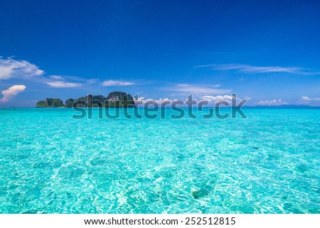 Blue Paradise Heaven On Earth  - stock photo