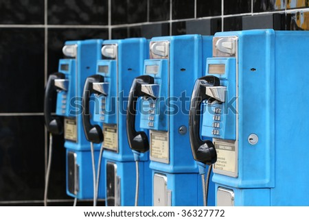 blue pay phones in the caribbean