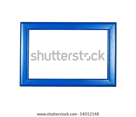 Blue photo frame - stock photo