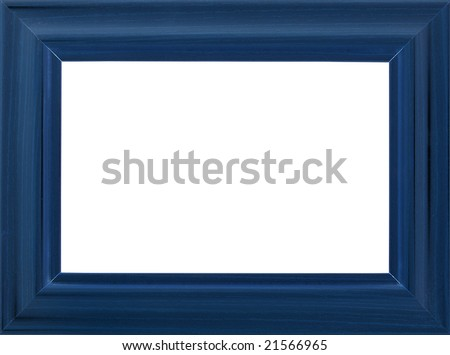 Blue photo frame (with empty space for text, photo or picture) - stock photo