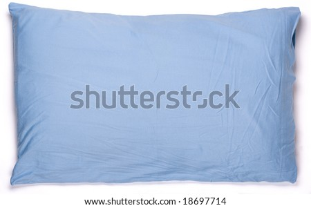blue pillow - stock photo