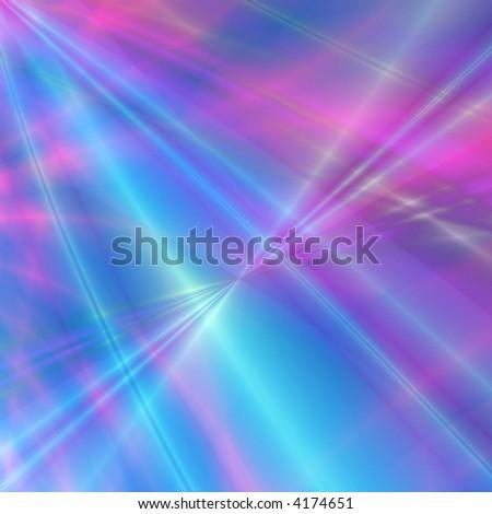 Blue-pink fantasy rays - stock photo