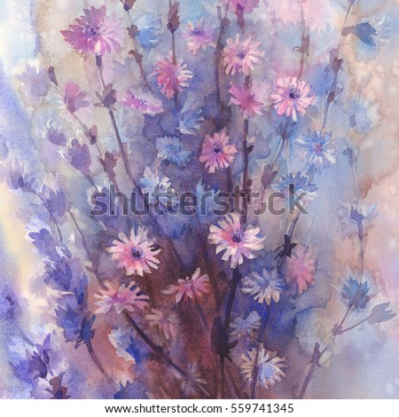 Amazing dynamic detailed high resolution wide stock - High resolution watercolor flowers ...