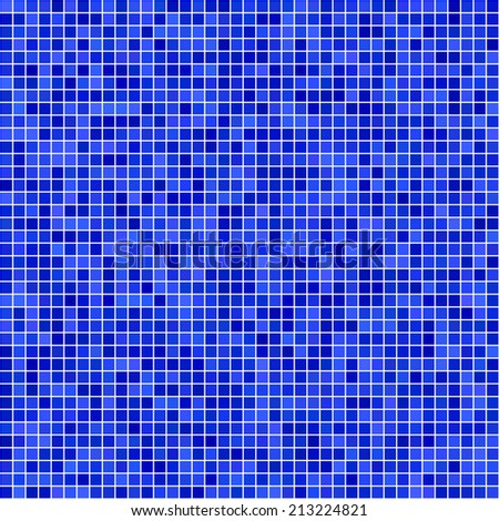 Blue pixel mosaic background - jpeg version - stock photo
