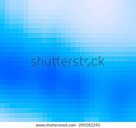 Blue pixel pattern. Abstract background.
