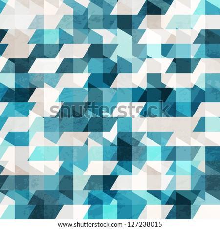 blue pixel seamless pattern (raster version) - stock photo