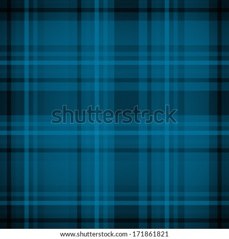 Blue plaid fabric pattern background - stock photo