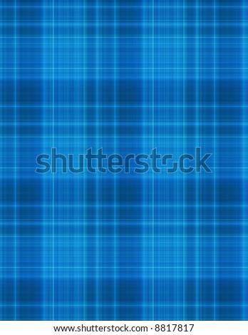 blue plaid pattern - stock photo