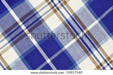 Blue plaid pattern useful as a background texture - stock photo